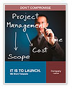 Business man writing project management concept of time, cost and scope Word Templates