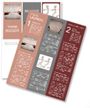 Closeup of two businessmen playing tug of war Newsletter Template