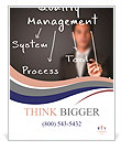 Business man writing industrial quality management concept ( system - process - tool - method ) Poster Templates