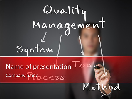 Business man writing industrial quality management concept system business man writing industrial quality management concept system process tool method powerpoint template toneelgroepblik Image collections