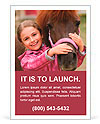 Horse and lovely girl - best friends Ad Template