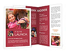 Horse and lovely girl - best friends Brochure Template