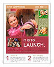 Horse and lovely girl - best friends Flyer Template