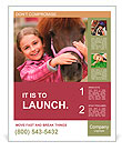 Horse and lovely girl - best friends Poster Template