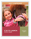 Horse and lovely girl - best friends Word Template