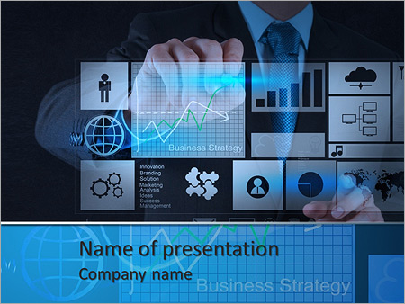 Businessman hand working with new modern computer and business businessman hand working with new modern computer and business strategy as concept powerpoint template cheaphphosting Image collections