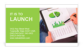 Stock market graphs monitoring Business Card Template