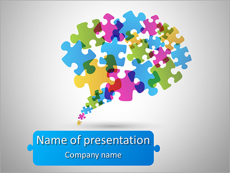 speech bubble made from puzzle stock vector illustration, Powerpoint templates