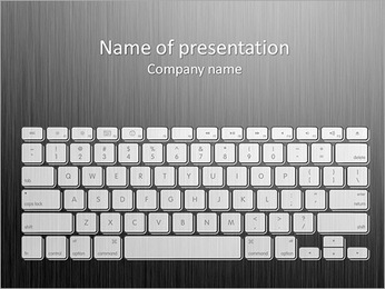 Computer keyboard. Vector. Stock Vector Illustration: PowerPoint Template