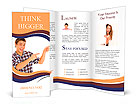Young man pointing Brochure Templates