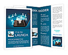 Social networking concept Brochure Template