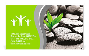 Zen basalt stones and bamboo with dew business card template zen basalt stones and bamboo with dew business card template colourmoves