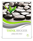 Zen basalt stones and bamboo with dew Poster Template