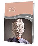 The man with foam for shaving on a head Presentation Folder