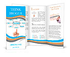 Hand pointing plan success flow chart Brochure Template