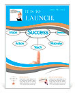 Hand pointing plan success flow chart Flyer Templates