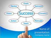 Gráfico plano Mão que aponta fluxo sucesso Modelos de apresentações PowerPoint