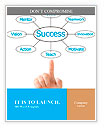 Hand pointing plan success flow chart Word Templates