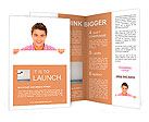 Man holding blank sign Brochure Templates