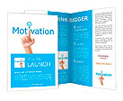 Hand and word motivation. - business concept isolated on white background Brochure Template