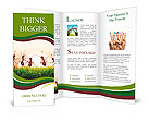Team of ants on sunrise, joy of life, concept of success Brochure Templates