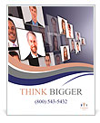 Many the isolated portraits of people Poster Template
