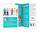 Big group young people Brochure Templates