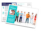 Big group young people Postcard Template