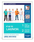 Big group young people Poster Template