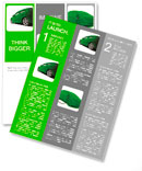 Concept of the eco-friendly car - body surface is covered with a realistic grass Newsletter Templates