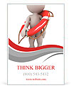 3d human with life preserver. 3d illustration. Ad Templates