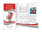 3d human with life preserver. 3d illustration. Brochure Templates