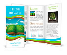 Open magic book of nature Brochure Template