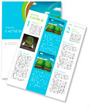 Open magic book of nature Newsletter Template