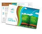 Open magic book of nature Postcard Template