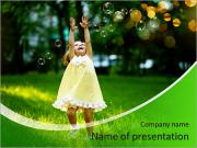 Girl with bubbles PowerPoint Templates