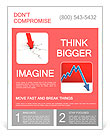 Economic Crisis. Business fall. Flyer Templates