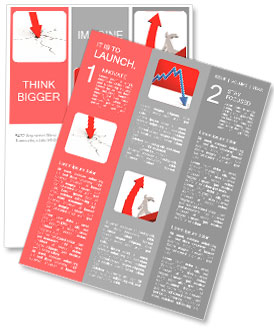 economic crisis business fall newsletter template design id