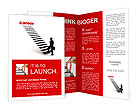 Three dimensional image of a man achieves career Brochure Template
