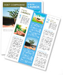 Plant in hands Newsletter Template