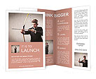 Young businessman drawing a bow Brochure Templates