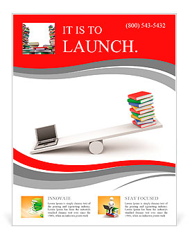 Information Technology Flyer Template Design ID - Technology brochure template
