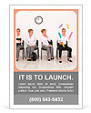 Employees with special skills wanted concept - the juggler Ad Template