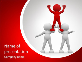 3d people- human character sit in the pyramid. 3d render illustration PowerPoint Template