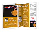 Gold medal on black with blank face for text, concept for winning or success Brochure Templates