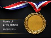 Gold medal on black with blank face for text concept for winning powerpoint templates gold medal on black with blank face for text concept for winning or success powerpoint toneelgroepblik Image collections