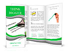 Highlighter and word performance concept background Brochure Templates