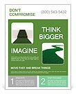 Green grass path - Environmental concept Flyer Templates