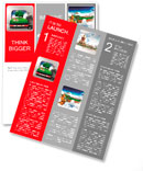 Red suitcase with green nature landscape in it Newsletter Template