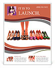 Multicolored shoes and legs on a white background Flyer Template